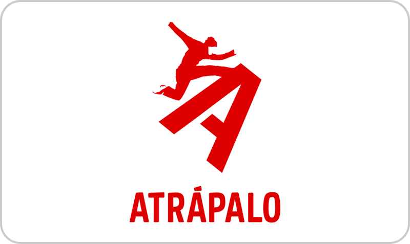 Tarjeta Atrápalo: ofertas de reservas de vuelos, hoteles, vacaciones, cruceros, restaurantes y actividades como visitas guiadas, cursos, balnearios, masajes